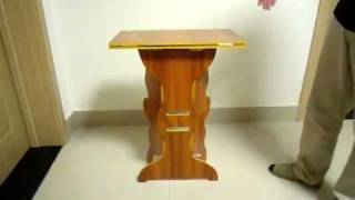 Ws.magic - Wood Folding Table.flv