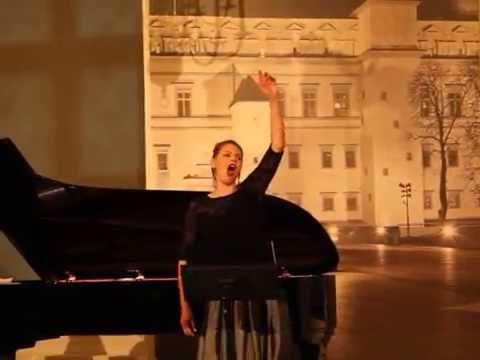 The lithuanian beautiful opera voice