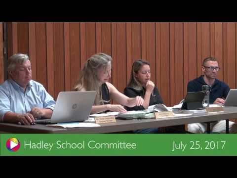 Hadley School Committee – July 25, 2017
