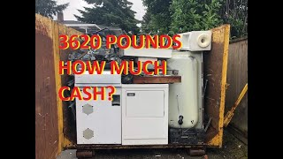 3620 Pounds of Scrap Metals What's it Worth?