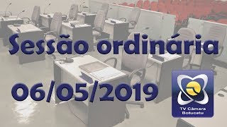 Sessão ordinária 06/05/2019