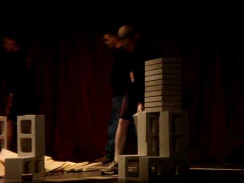 Brick and Board Breaking at it's best
