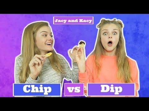 Chip vs Dip Challenge ~ Jacy and Kacy