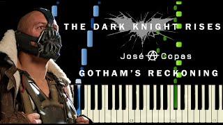 Download lagu The Dark Knight Rises - Gotham Reckoning   Tema de Bane (Piano Tutorial + Partitura)
