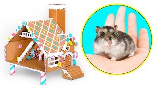 DIY Hamster Gingerbread House | A Cardboard Craft