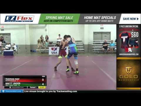 100 Thomas May Michigan Blue vs Brett Unger New Jersey Red 8384479104