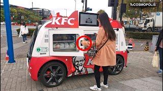 EL FUTURO ES HOY OÍSTE VIEJO? KFC está VENDIENDO COMIDA en las CALLES de CHINA con ROBOTS