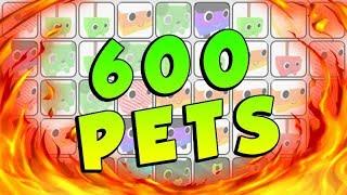 PEGANDO 600 PETS NO PET SIMULATOR - ROBLOX