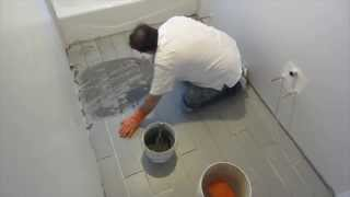 Part 8 How To Install Wood Look Plank Tile On Schluter Ditra: Grouting The Tile