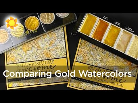Comparing Gold Watercolors