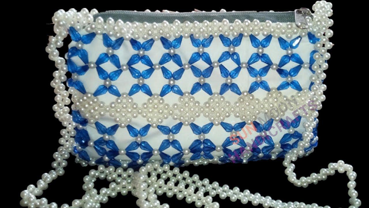 পুতির ব্যাগ/How to make a beaded Bag (part-2)/Beaded Bag ...