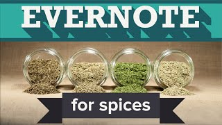 Organize Your Spice Rack with Evernote