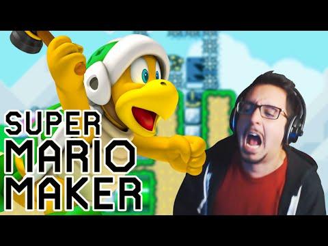 BASKETBALL IN MARIO MAKER? | Super Mario Maker No Skip Challenge (gameplay)