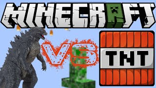 GODZILLA VS. TNT! | MINECRAFT EXLPOSION | MAPS VS. TNT