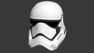 3ds max Making Off (fast forward) Star wars 7 The force Awakens storm trooper helmet