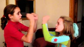 Hand Clapping Games Samantha and Lauren.avi