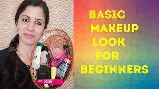 Basic makeup look for beginners    Makeup guide for beginners    Simple makeup look