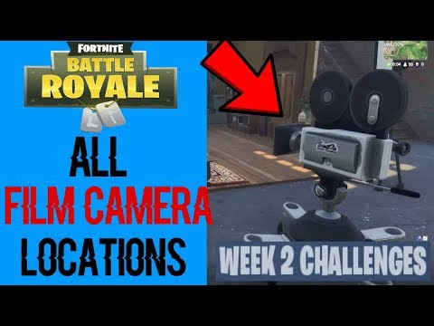 Dance In Front Of Different Film Cameras | Locations | Fortnite Battle Royale Season 4