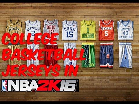 College basketball jerseys | NBA 2k16