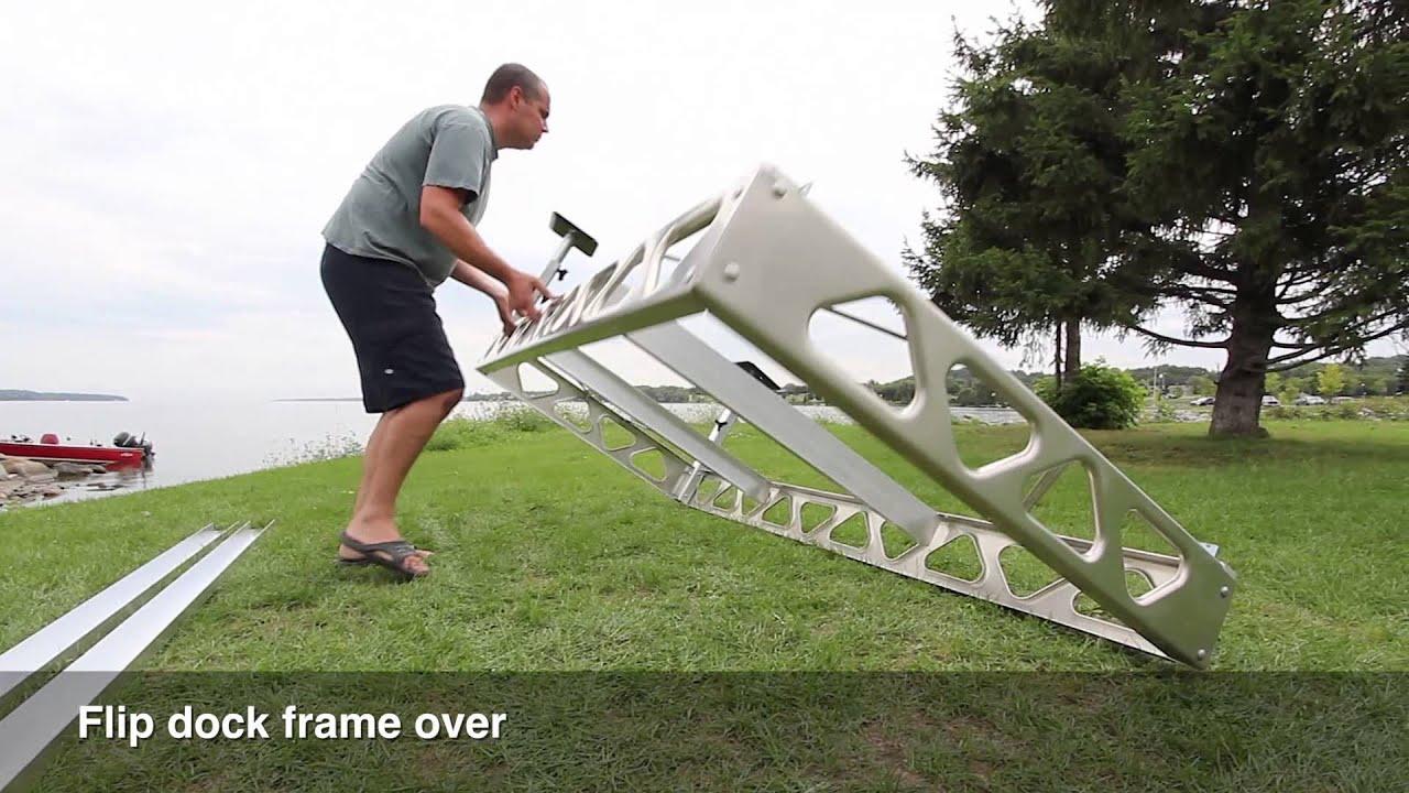 Canadadocks 4x8 aluminum joist kit youtube solutioingenieria Gallery