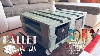 DIY - vintage style pallet coffee table | PaintyCloud
