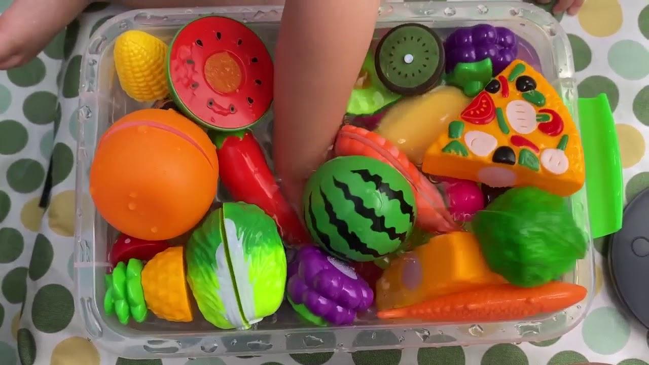 베란다 34개월 아기 과일 채소 장난감 물놀이 ベランダで思いっきり水遊び #34 티유티비