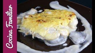 Receta para hacer pastel de pollo gratinado con queso paso a paso   Recetas caseras de Javier Romero