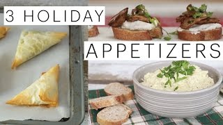 3 Vegan Holiday Appetizers | Artichoke Dip | Vegan Spanakopita | Mushroom Crostini | The Edgy Veg