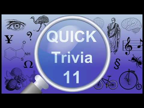 Quick Trivia 11 | General Knowledge Questions & Answers |