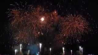 Grand bouquet final feu d'artifice Genève (Geneva Fireworks) 9 Aout 2014