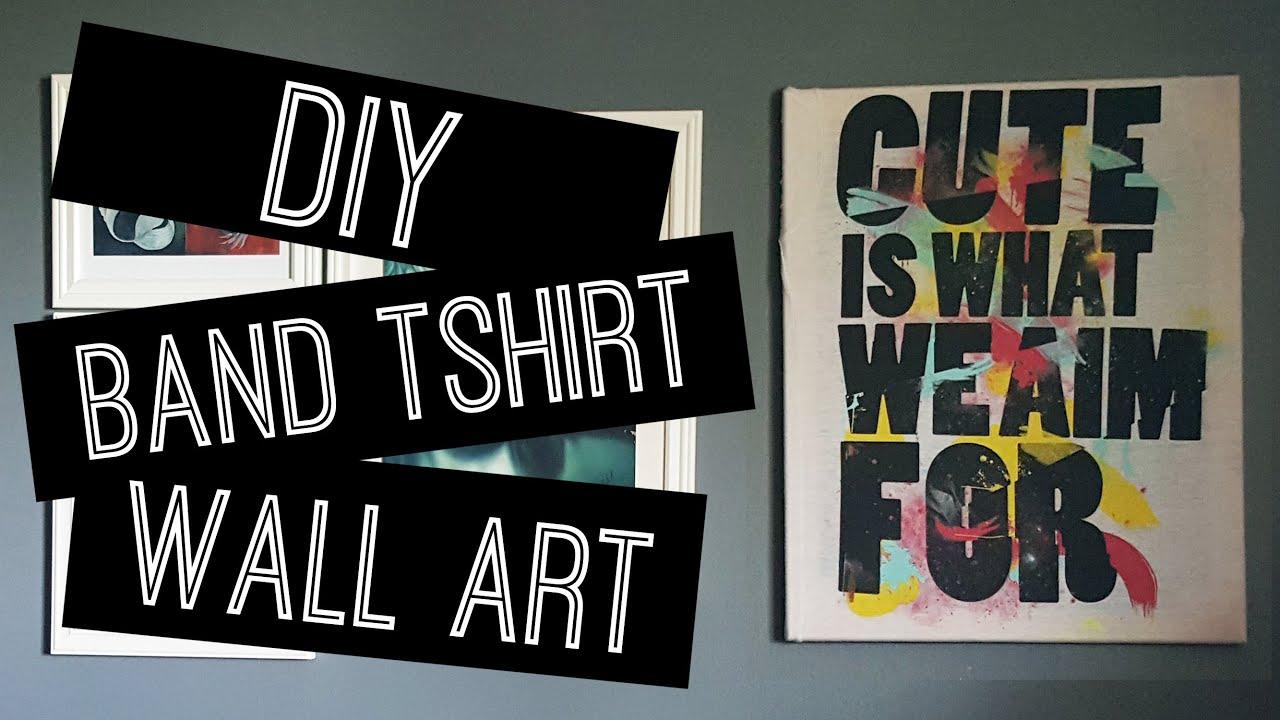 DIY Band T-shirt Wall Art | ERA & DIY: Band T-shirt Wall Art | ERA - YouTube