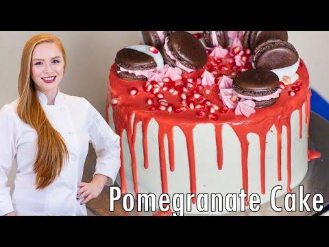 Pistachio Pomegranate Cake