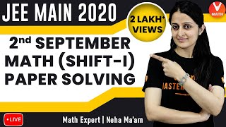 JEE Main 2020 Question Paper Solving With Tricks   2nd September Shift-1   Part-2   Vedantu Math