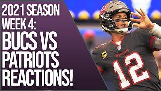 Tampa Bay Buccaneers vs New England Patriots REACTIONS Live NFL 2021 Regular season week 4