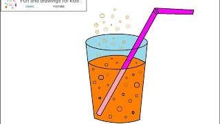 How to draw an orange soda for children / Nursery rhymes