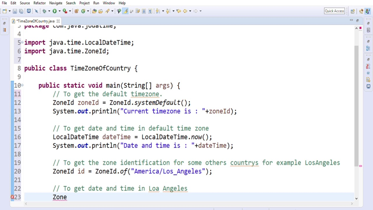 How to know the current date, time and time zone by using joda time with  help of java program