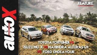 4x4 SUV Shootout: Mahindra Alturas G4 vs Toyota Fortuner vs Ford Endeavour vs Isuzu MU-X | autoX
