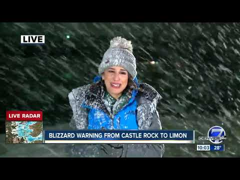 Denver7 Reporters get blown around, frozen as winter storm enters Denver metro.