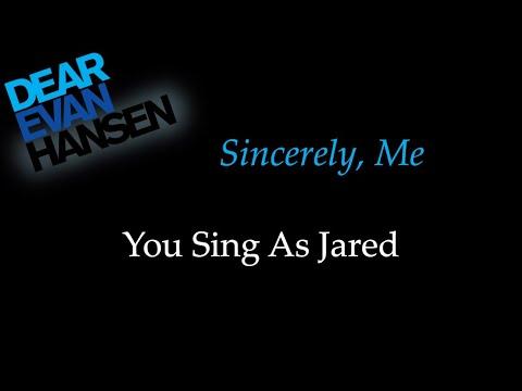 Dear Evan Hansen - Sincerely Me - Karaoke/Sing With Me: You Sing Jared