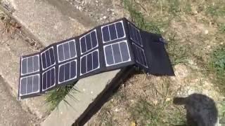 Портативна сонячна панель на 40 Вт з GearBest
