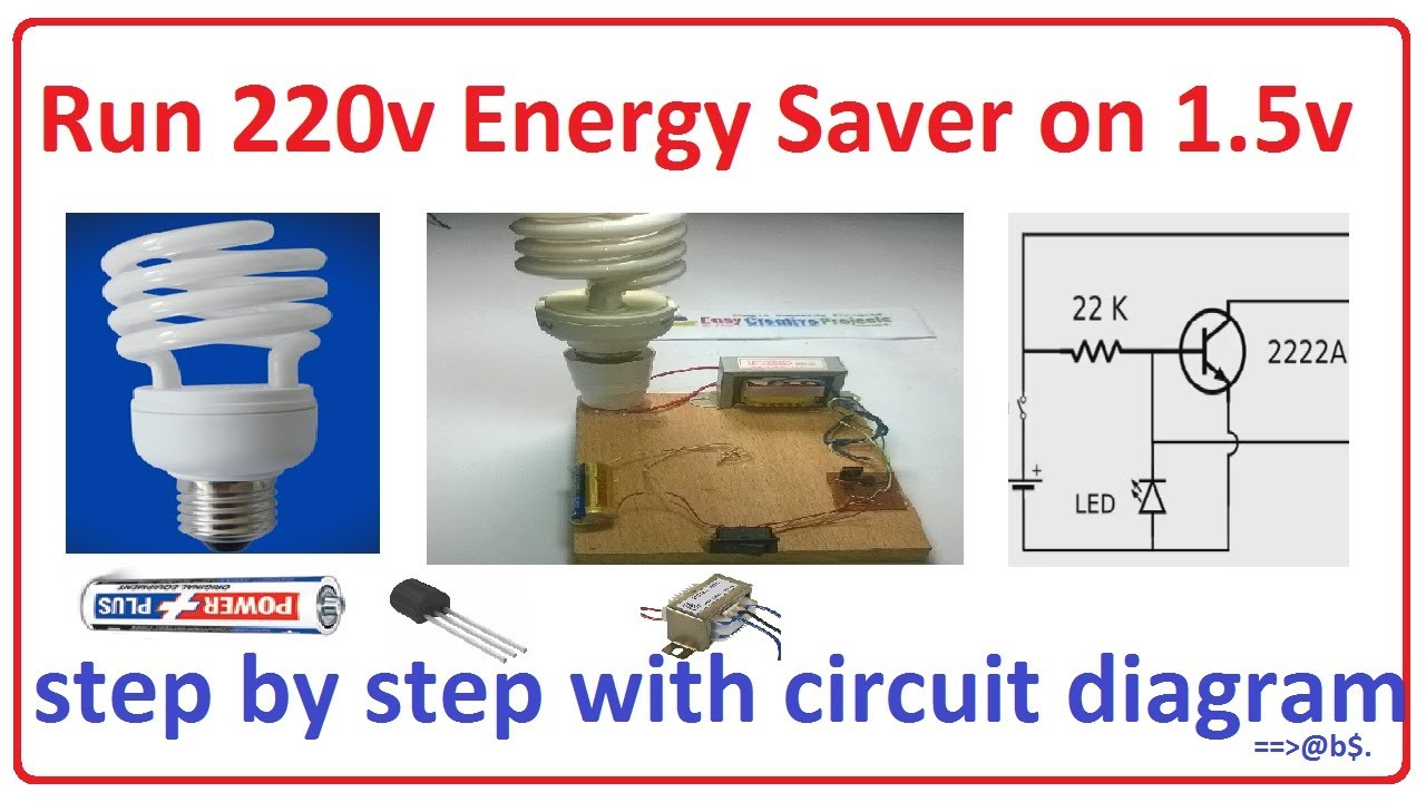 how to run 220v energy saver on 1 5v easy step by step with rh youtube com circuit diagram of energy saver Michelin Energy Saver