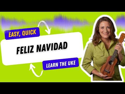Feliz Navidad  Easy Beginner Ukulele Tutorial - 21 Ukulele Songs