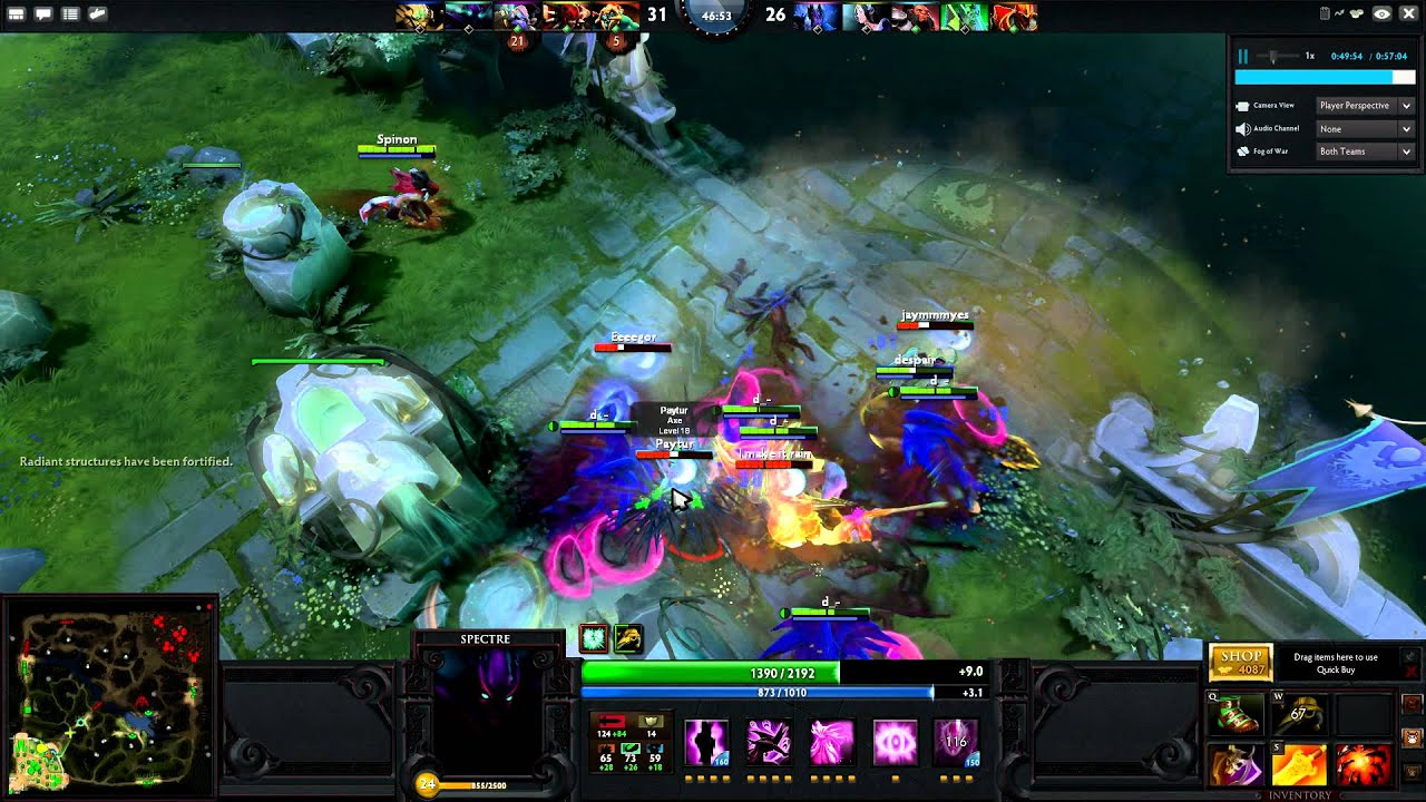 dota 2 spectre rampage easy as 123 youtube
