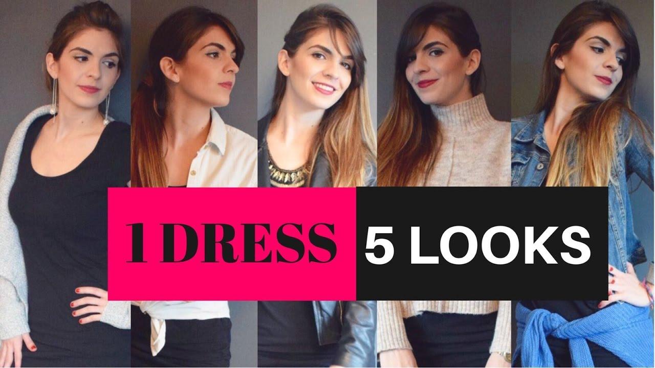 1ebe9cb78 OUTFITS | Combinar un VESTIDO NEGRO | 1 Dress 5 Outfits | LookBook | 5  Looks| Ideas |Yendypindipi