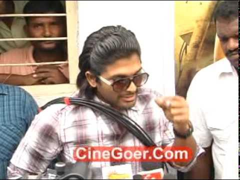Allu Arjun As Cable Raju @ Film Nagar Colony Slum Area In Hyderabad (Part 2)