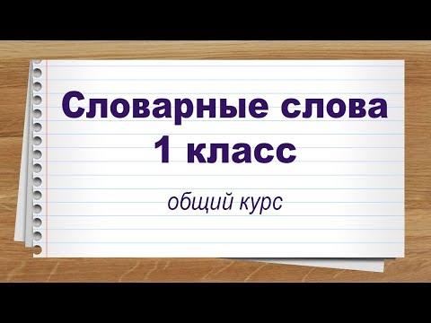Словарные слова 1 класс общий курс. Тренажер написания слов под диктовку.