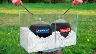 Gambar cover Experiment: Giant Balloons of Coca Cola & Pepsi VS Mentos