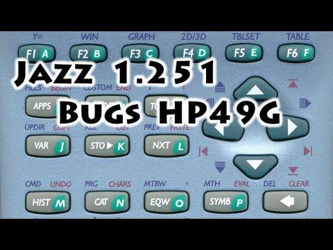 HP calculators: Jazz 50g v1.251 under HP49G - Bugs - Gaak
