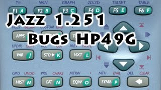 HP calculators: Jazz 50g v1.251 under HP49G - Bugs - Gaak