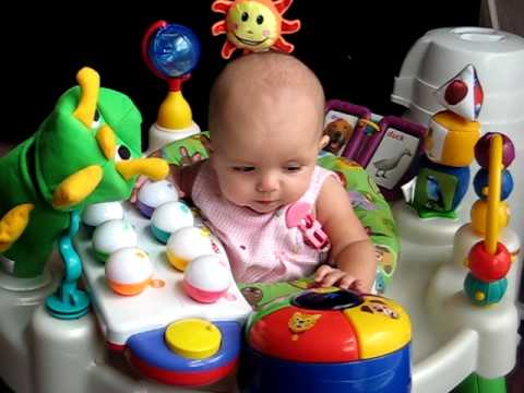 4 Month Old Baby Playing With Her Toy Youtube